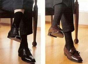 Meias e sapatos