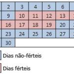 Essa tabelinha só vai ser eficaz para quem tem um ciclo menstrual comum de uma mulher são intervalos no decorrer de 28,29 ou 30 dias,