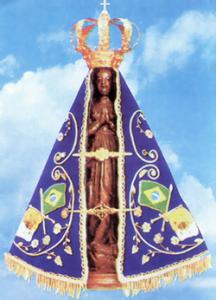 Nossa Senhora Aparecida é caracterizada por ser a santa protetora.